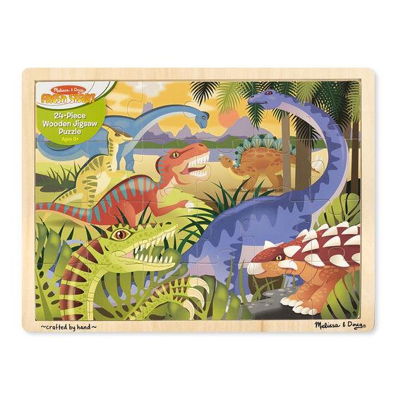 Melissa & Doug: Dinosaur Wooden Jigsaw 24pc image