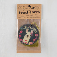 Natural Life: Air Freshener - Live Happy Llama Head