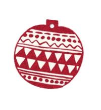 Hallmark: Christmas Gift Tags - Bauble (Pack of 12) image