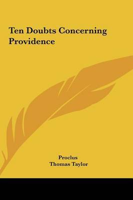 Ten Doubts Concerning Providence by . Proclus image