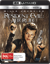 Resident Evil: Afterlife on Blu-ray, UHD Blu-ray, UV