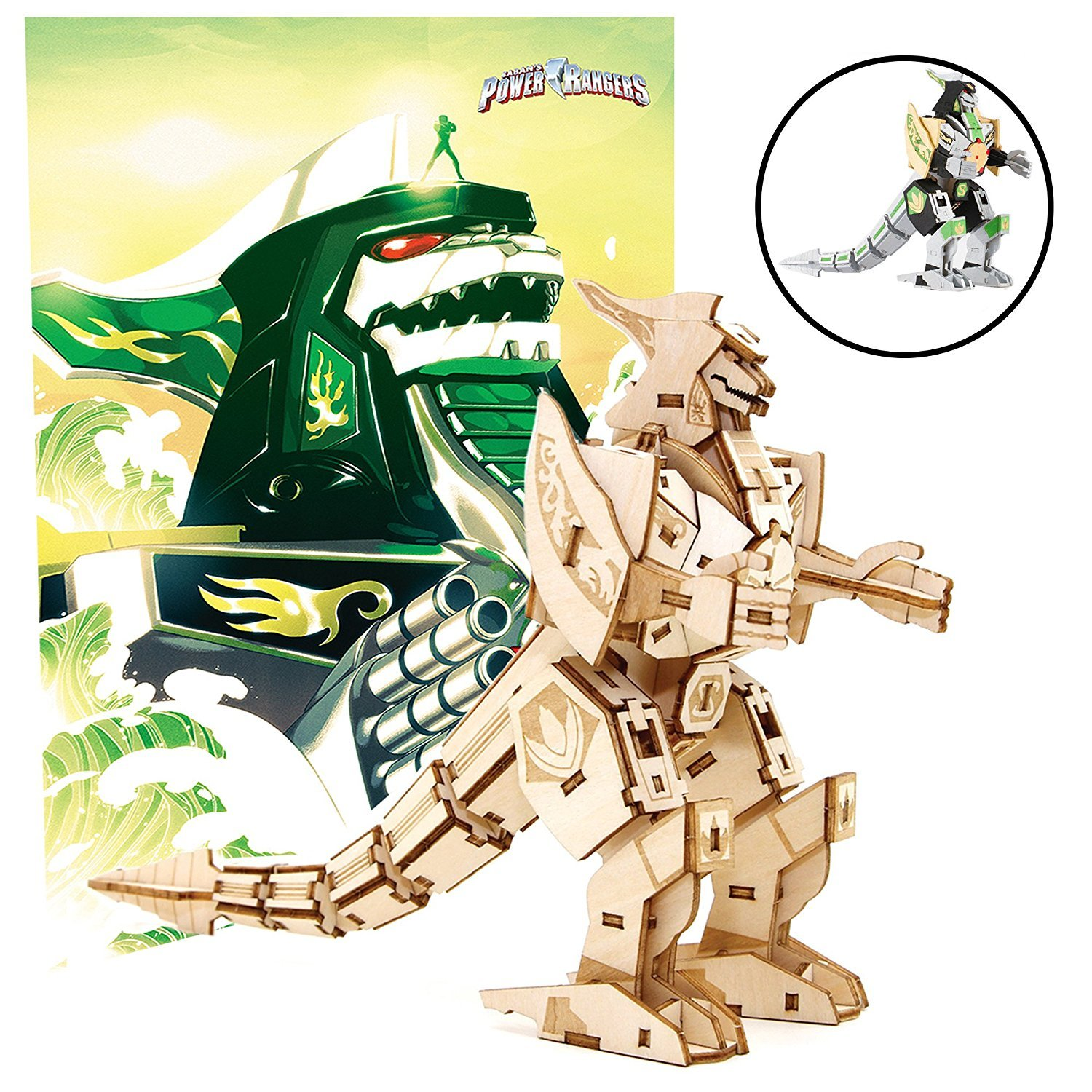Incredibuilds: Power Rangers: Dragonzord 3D Wood Model And Poster image