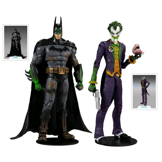 "Batman Arkham Asylum: Batman & Joker - 7"" Action Figure (2-Pack)"
