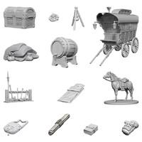 D&D Nolzur's Marvelous: Unpainted Miniatures - Adventurer's Campsite image