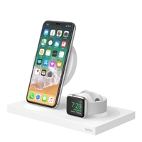 Belkin: BOOSTUP Wireless Charging Dock for iPhone + Apple Watch + USB-A Port - White