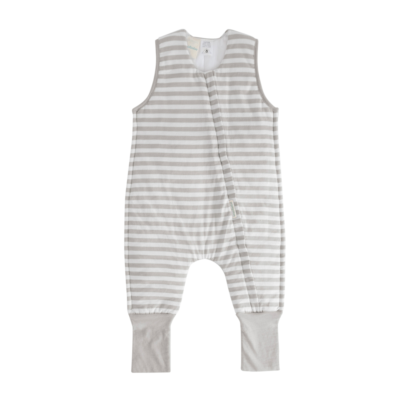 Woolbabe: Duvet Sleeping Suit - Pebble (2 Years) image