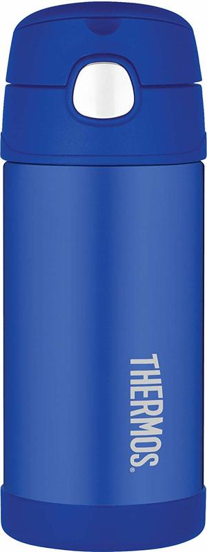 Thermos: FUNtainer Straw Bottle - Blue (355ml)