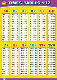 Times Tables Wall Chart