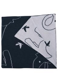 Babu: Elephant Blanket (Navy/White)
