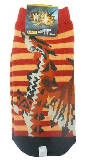 Character Socks Monster Hunter Rathalos Junior (19-21cm)