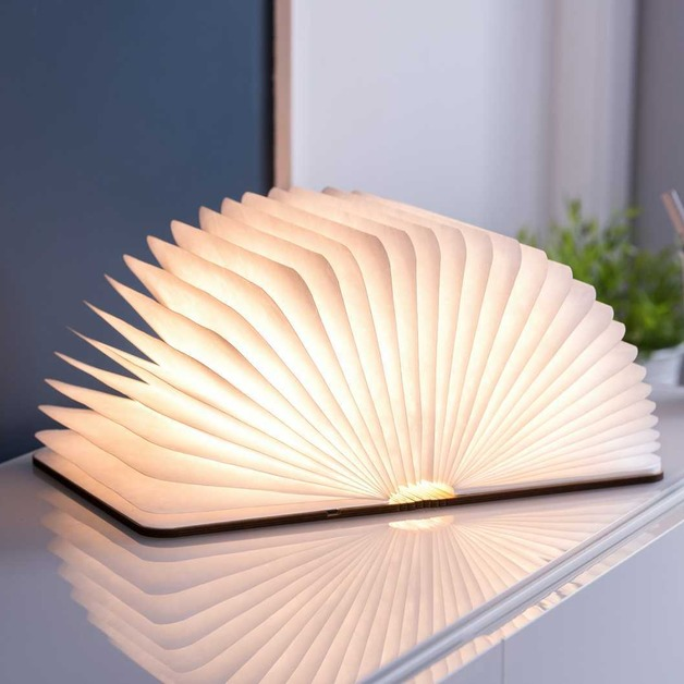 Walnut Large Smart Led Light Book