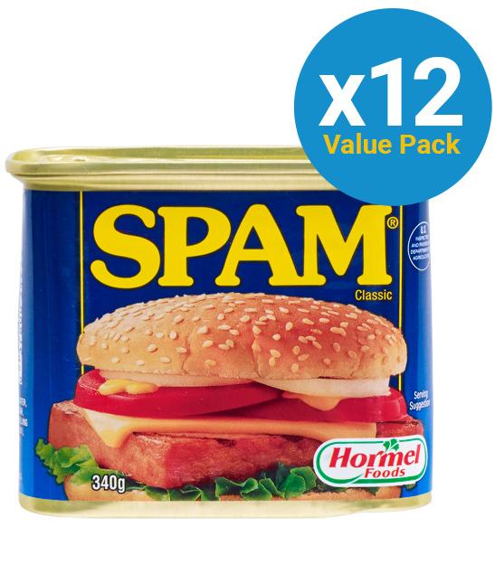 Hormel: Spam Classic 340g (12 Pack)