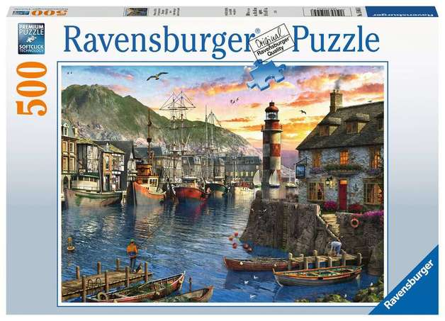 Ravensburger: 500 Piece Puzzle - Sunrise at the Port