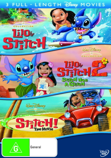 Lilo And Stitch / Lilo And Stitch 2 / Stitch! - The Movie (3 Disc Set) on DVD