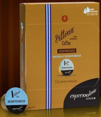 Vittoria Espresso Decaffeinated Coffee Capsules image