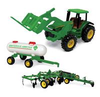 John Deere: 20cm 8530 Tractor w/Forklift, Ammonia Tank, & Applicator