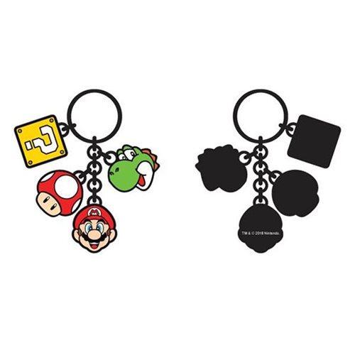 Super Mario Bros. Multi-Charm Key Chain