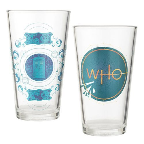 Doctor Who: 16 oz. Laser Decal Glass 2-Pack