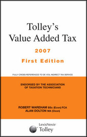Tolley's Value Added Tax by Robert Wareham image