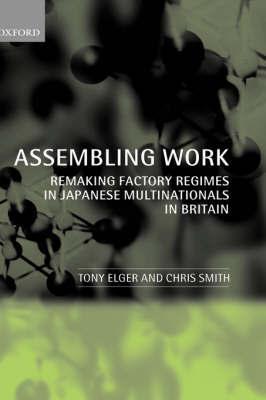Assembling Work by Tony Elger
