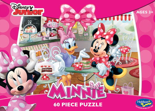 Holdson: Minnie Mouse 60pc Boxed Puzzle - Time For Tea