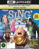 Sing (4K UHD + Blu-ray) DVD