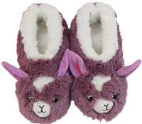 Slumbies Llama Furry Foot Pals Slippers (L)