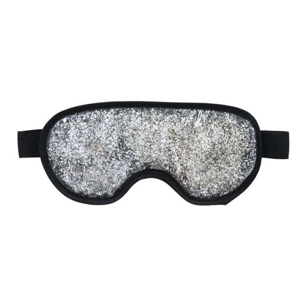 Annabel Trends: Gel Glitter Eye Mask - Silver