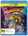 Madagascar 3: Europe's Most Wanted - 3D Superset on DVD, Blu-ray, 3D Blu-ray, DC