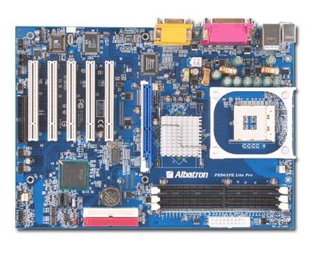 Albatron Motherboard PX865PE LITE PRO P4 SATA+LAN