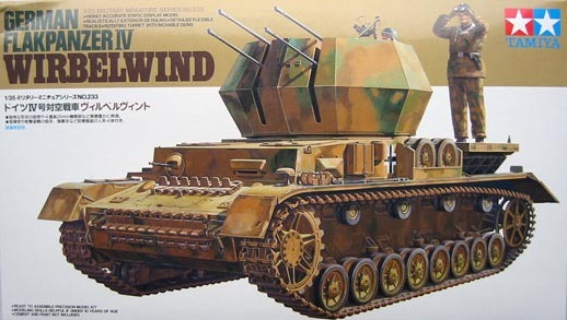 Tamiya 1/35 German Flakpanzer IV Wirbelwind - Model Kit