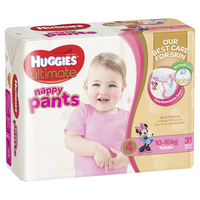 Huggies Ultimate Nappy Pants Bulk - Toddler Girl 10-15kgs (31)