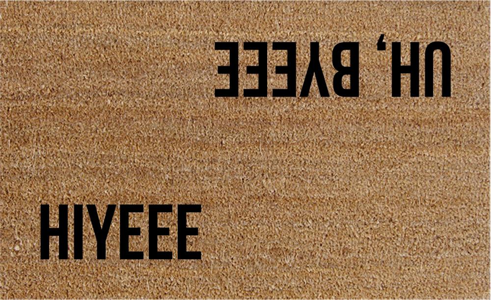 Natural Fibre Doormat - Hiyee Uh, Byeee image