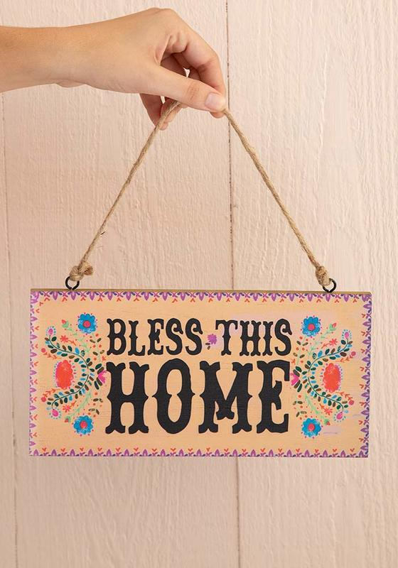 Natural Life: Welcome Sign - Bless Home