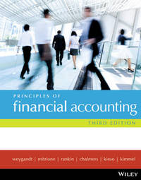 Principles of Financial Accounting 3E by Jerry J. Weygandt