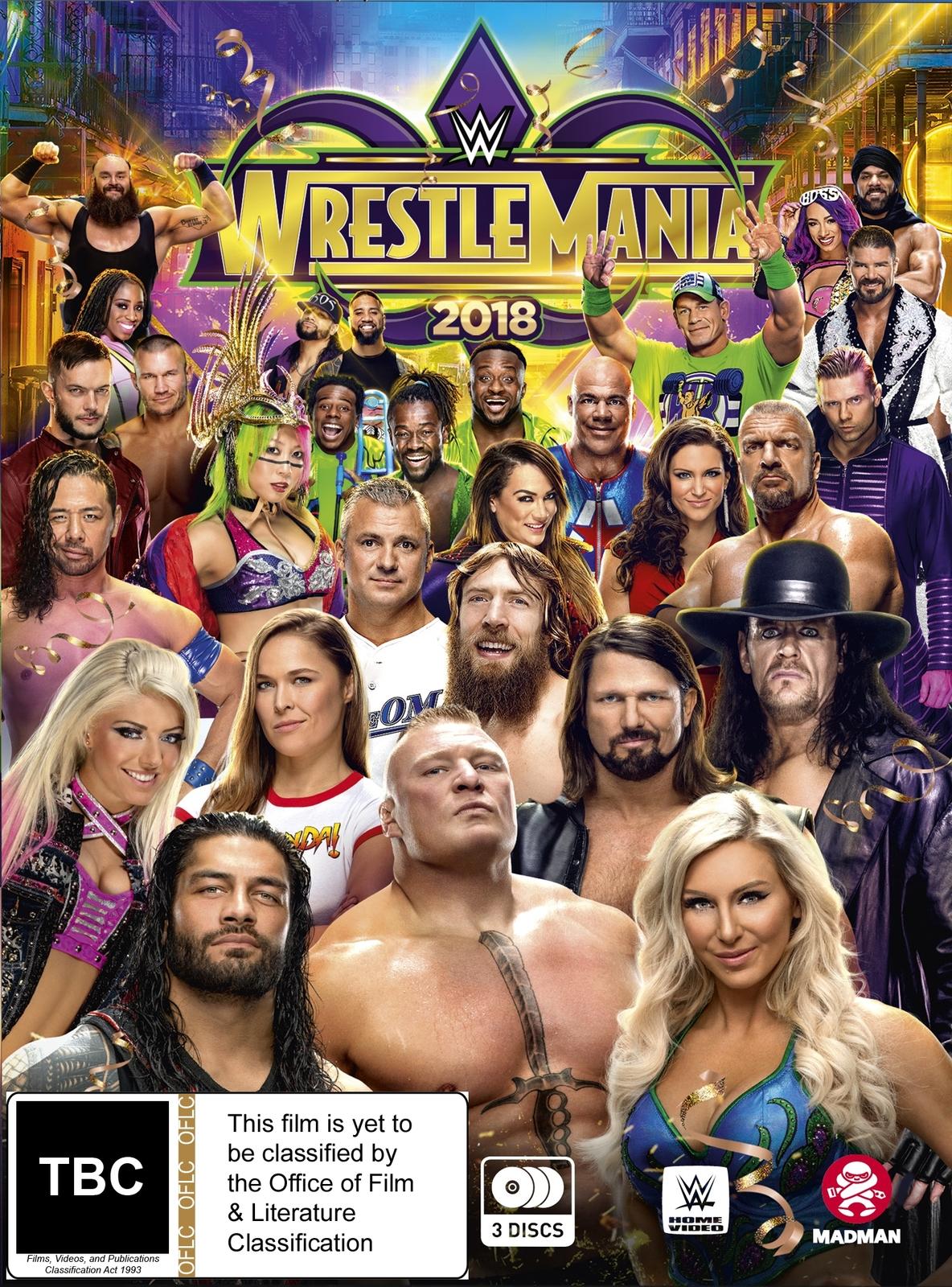 WWE: Wrestlemania 34 on DVD image