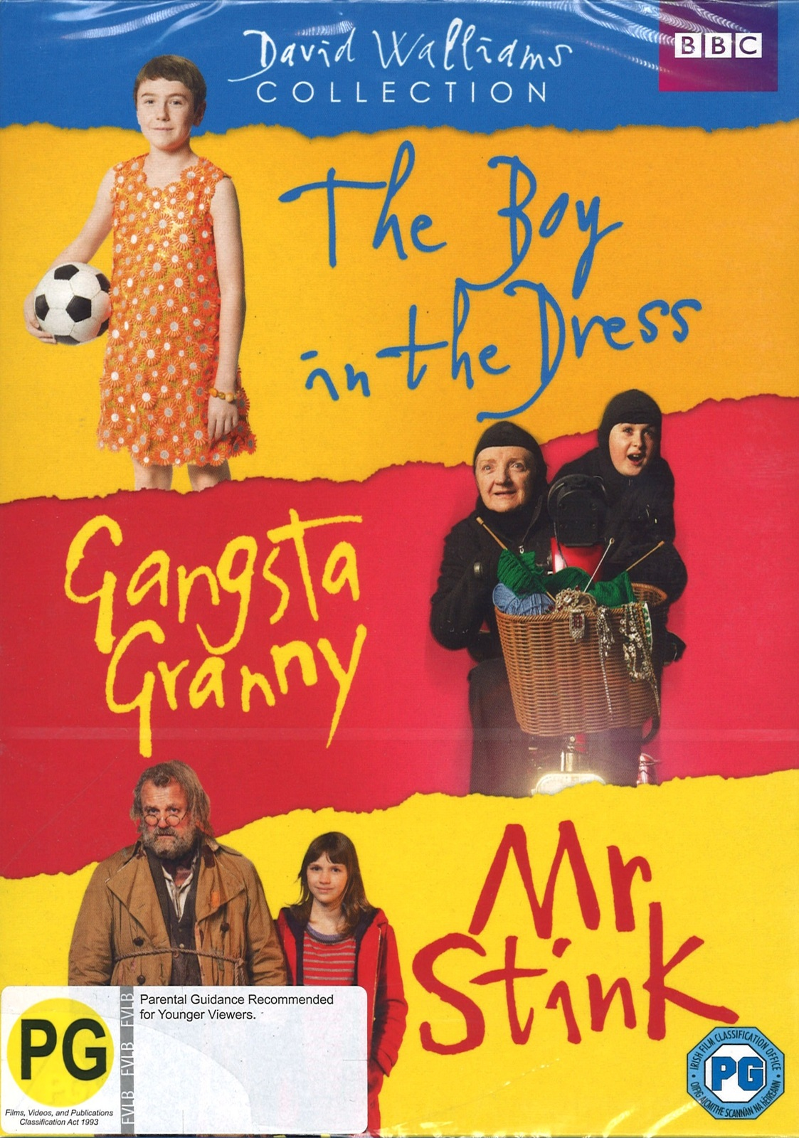 David Walliams Collection The Boy In The Dress Gangsta Granny Mr Stink on DVD image