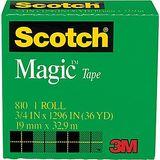 3M Scotch: Magic Tape 810 - 19mm/33m