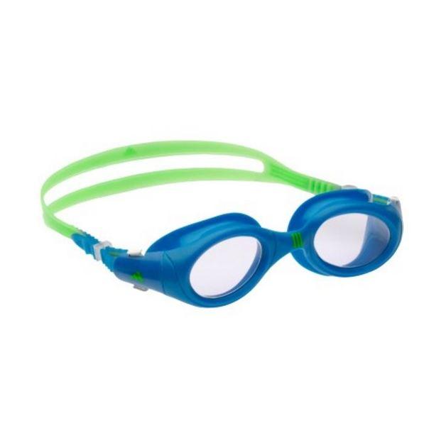 Adidas Aquazilla Junior Goggles - Clear Lens (Blue/Lime)