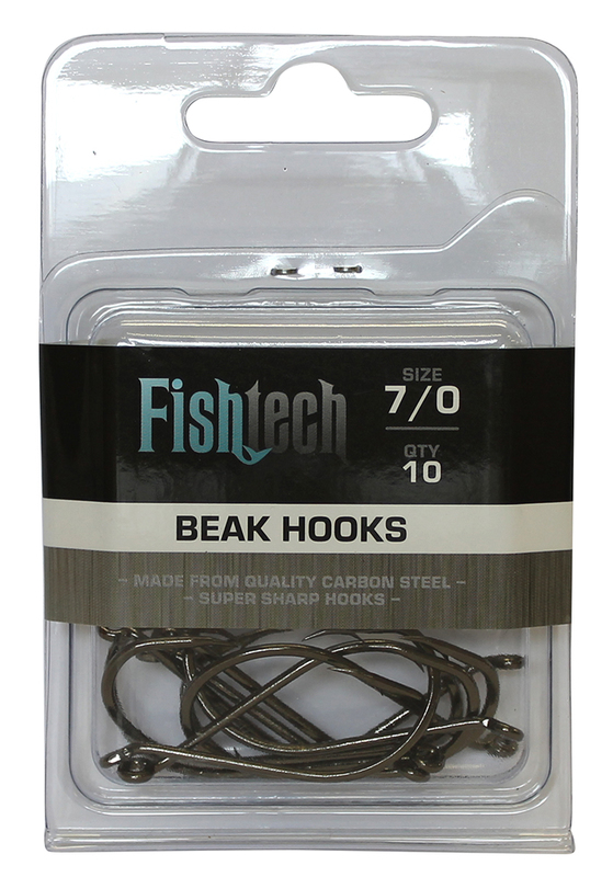 Buy Fishtech Beak Hooks 7/0 (10 per pack) at Mighty Ape NZ