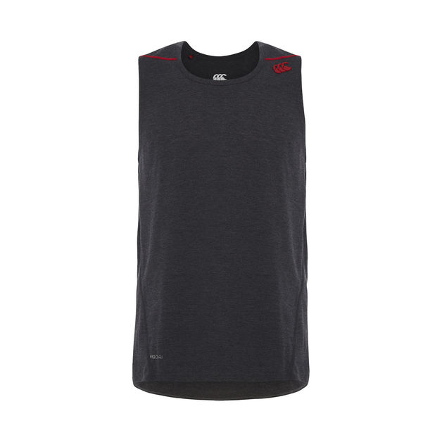 Vapodri Performance Cotton Singlet - Vanta Black Marl (L)
