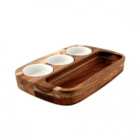 Athena Dipping Set - Board & Dishes