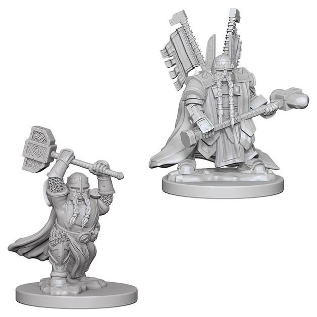 D&D Nolzurs Marvelous: Unpainted Miniatures - Dwarf Male Paladin