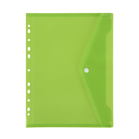 Marbig: Binder Pocket with Button Closure - Lime