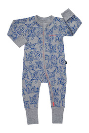 Bonds Ribby Zippy Wondersuit - Baby Dory Bobcat (0-3 Months)