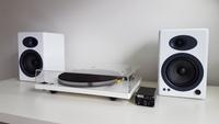 Audioengine 5+ Powered Bookshelf Speakers (Pair) High-Gloss White