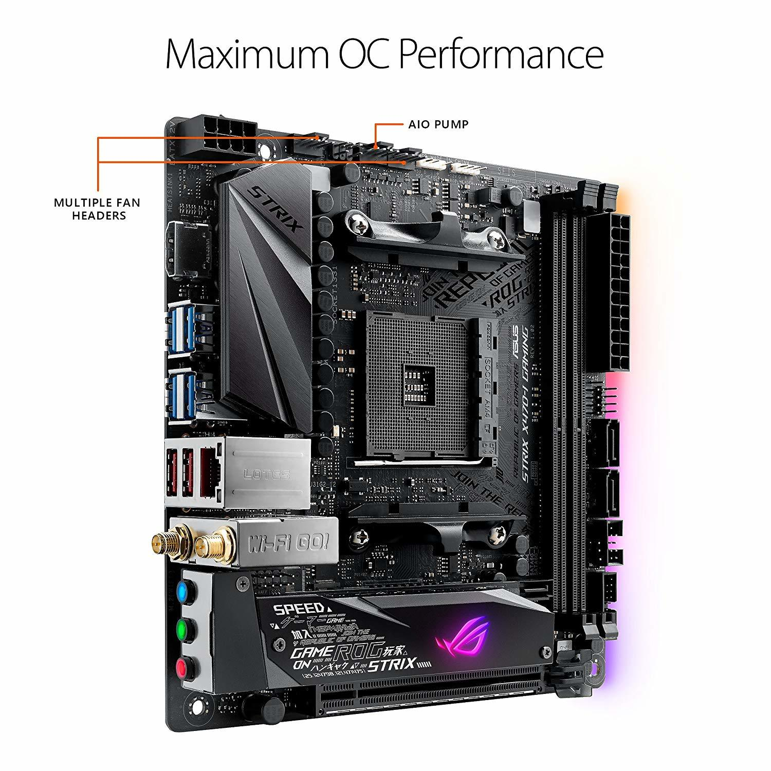 Asus Rog Strix X470-I Gaming AMD Ryzen2 AM4 HDMI M.2 Mini-Itx Motherboard image