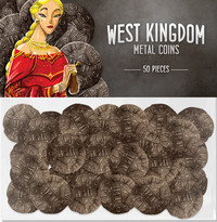 Architects of the West Kingdom: Metal Coins - Game Accessory