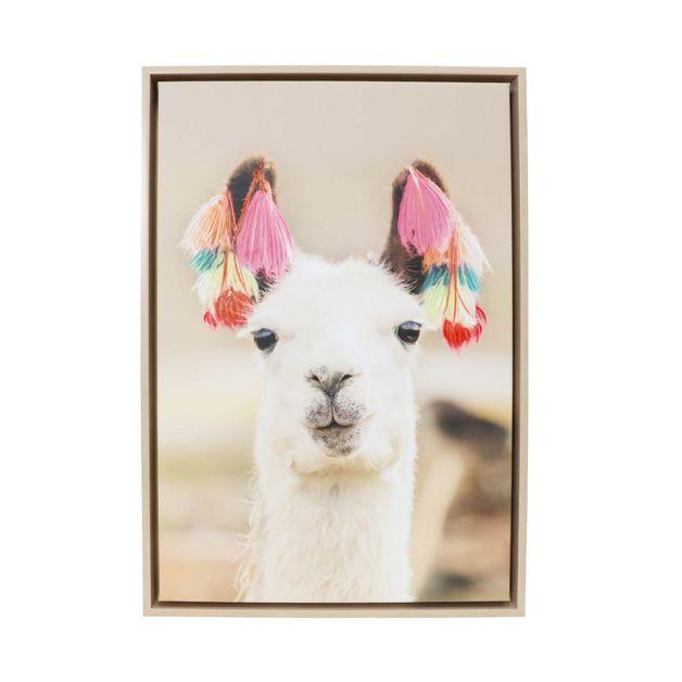 Splosh: Natural Oasis Llama Framed Canvas (44x64cm)