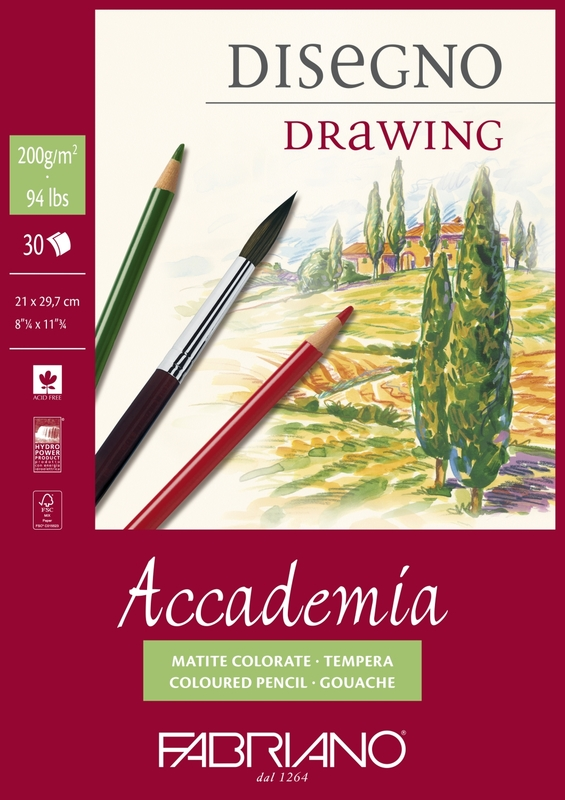 Fabriano: Accademia Drawing Paper Pad - A4 (200GSM, 30sheets)